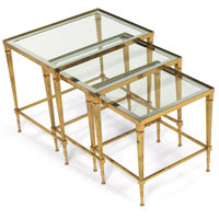 Click For More Info, 986. 1950s Brass Nesting Tables ...